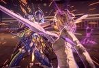 Obrázek ze hry Astral Chain + odznak a plakát