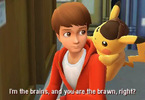 Obrázek ze hry Detective Pikachu + klíčenka
