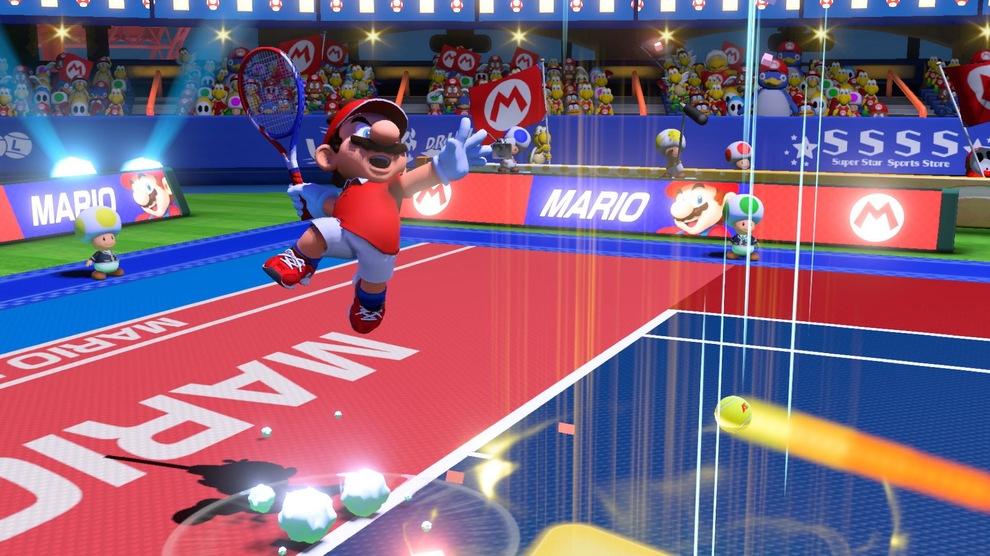Obrázek ze hry Mario Tennis Aces + potítko a klíčenka