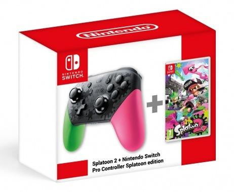 Obrázek ze hry Gamepad Nintendo Switch Pro Controller - Splatoon 2 Edition + Splatoon 2 bundle