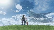 Obrázek ze hry Xenoblade Chronicles 2 + plakát
