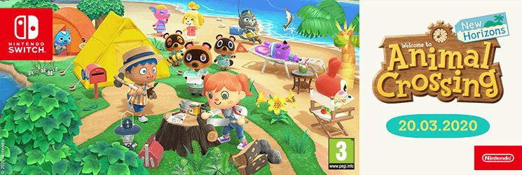 Animal Crossing: New Horizons právě vyšlo a máme pro Vás dárky!
