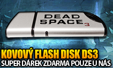 Kovový flash disk za objednávku Dead Space 3 na GameLeader