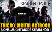Tričko Resident Evil 6 od Capcomu, digital artbook a onslaught mode