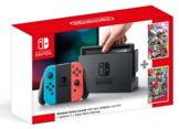Herní konzole Nintendo Switch s Joy-Con - modro-červená + Super Mario Odyssey + Splatoon 2 bundle